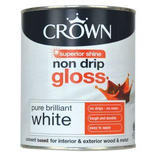 Crown Non Drip Gloss Pure Brilliant White 750ml