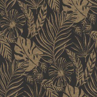 Nantucket leaf - Black and Gold 215533