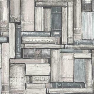 Rasch Portfolio Library Wallpaper – 220742 – Grey/Blue