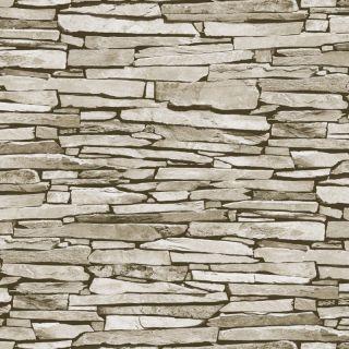 Natural Slate Stone Pattern Realistic Faux Effect Mural Debona Wallpaper