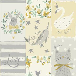 Belgravia Décor Soft Yellow Be Kind 2556 Animal