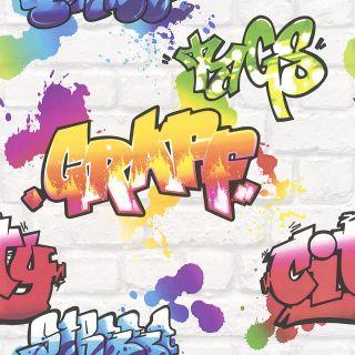 White Brick With Graffiti 272901