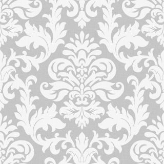 Damask - White and Silver 275765