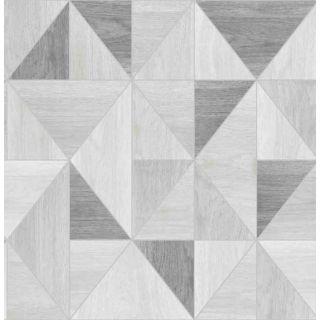 Fine Decor Apex Shades Of Grey Triangles Wallpaper  Wood Grain Effect FD42226