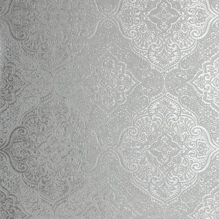 Luxe Medallion White/Silver 295701
