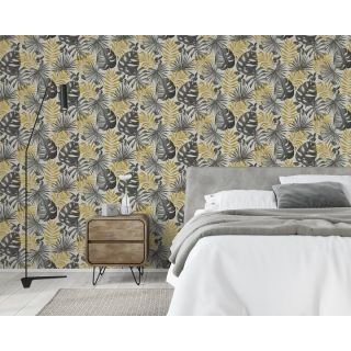 Arthouse Jungle Wall Black And Gold 297105