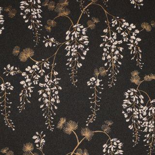 Wisteria Floral Black/Gold 297302