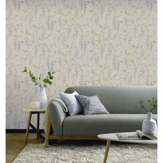 Wisteria Floral Neutral/Gold 297303
