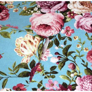 Tapestry Floral Teal/Pink 297304