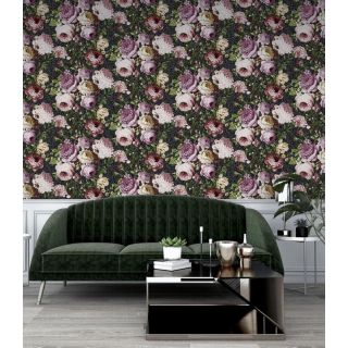 Tapestry Floral Charcoal/Pink 297305