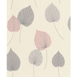 Vermont Leaf - Pink And Grey 308266