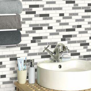 Holden 89191 Oblong Granite Tile Wallpaper - Black