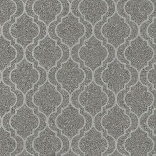 Belgravia Decor Massima Stone Effect Trellis Metallic Wallpaper - Silver 350