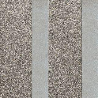 Belgravia Decor Massima Stone Effect Stripe Metallic Wallpaper - Silver 352