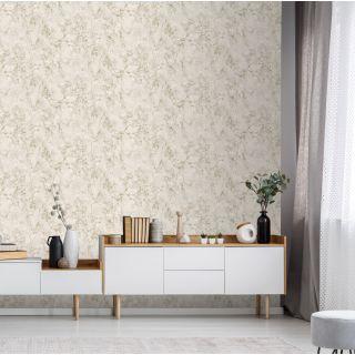 Debona Athena Marble Cream Wallpaper - Plain Marble 4022
