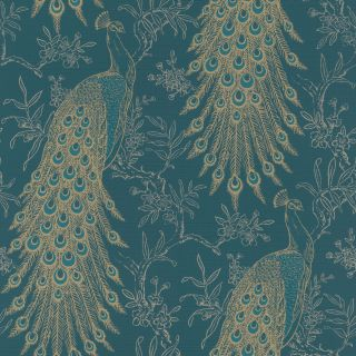 Proud Peacock - Teal And Gold 405804
