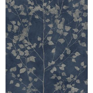 Shimmering Leaves - Midnight blue And Silver 416657