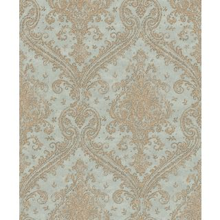 Shimmering Damask - Duckegg and Gold 420531
