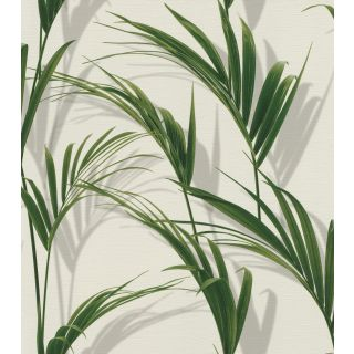 Lush Leaves - White And Green 465112