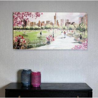 Painted Park Scene 6 in - 5101