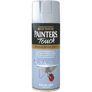 Rust-Oleum Painter's Touch Spray Paint - Winter Grey Gloss 400ml