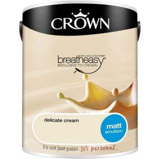 CROWN MATT EMULSION - DELICATE CREAM 2.5L