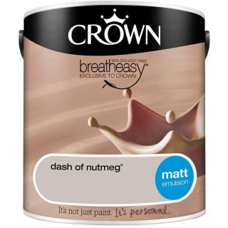 CROWN MATT EMULSION - DASH OF NUTMEG 2.5L