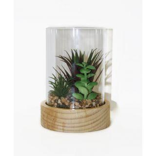 Faux Glass Terrarium 6 in - 5209