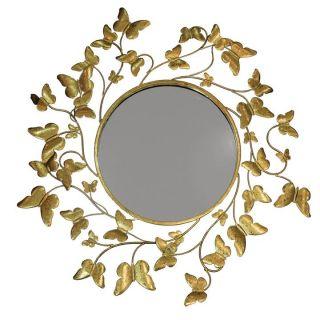 AH Metallic Gold Butterfly Mirror 1in - 5219