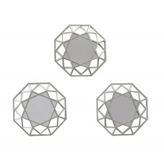AH Set 3 Octagon Mirrors 6in - 5226