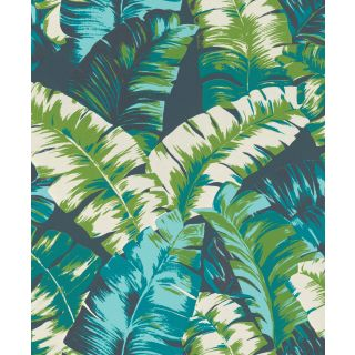 Textured Palm - Blue 535655