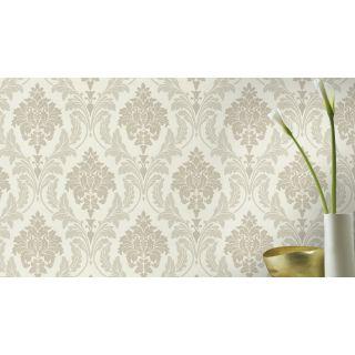 Shimmering Damask - Cream - Beige 541601