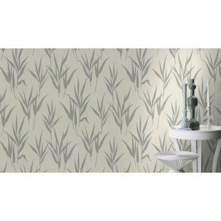 Shimmering Leaves - Cream Silver 541922