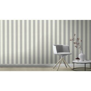 Shimmering Stripe - Cream Silver 542332