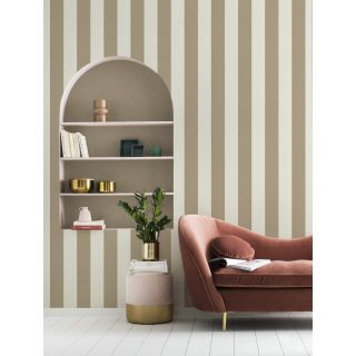 Shimmering Stripe - Cream Antique Gold 542349