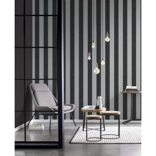 Shimmering Stripe - Charcoal Silver 542370