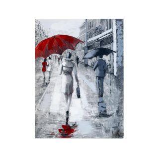 Rainy Street Scene Canvas 8 in - 5427