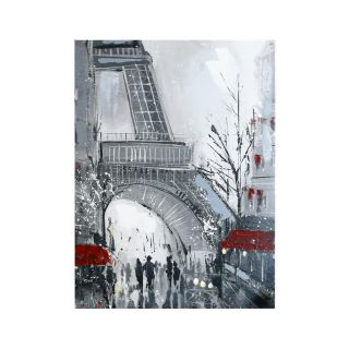 Close up Eiffel Tower Canvas 8 in - 5428