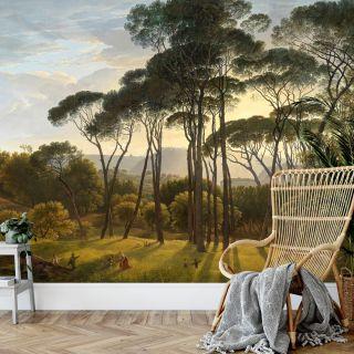 Classic Italian Landscape with umbrella Pines 5436-4
