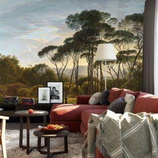 Classic Italian Landscape with umbrella Pines 5436-8