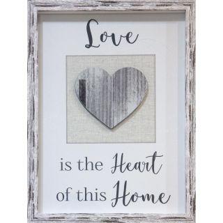 Love Heart Home Framed Print 6 in - 5524