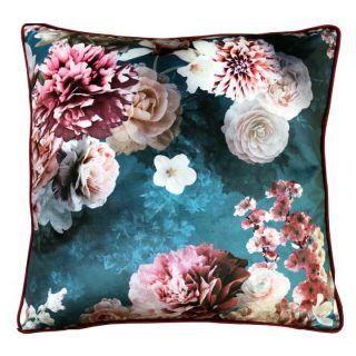 Bloom Teal Velvet Cushion 10 in - 5547