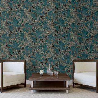 Debona Liquid Marble Aqua Glitter Wallpaper- 6363