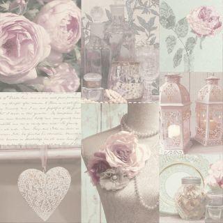 Arthouse Charlotte Blush Floral Hearts Flower Quotes Script Wallpaper 665200