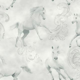 Camarillo Grey 667300 Horses Wallpaper