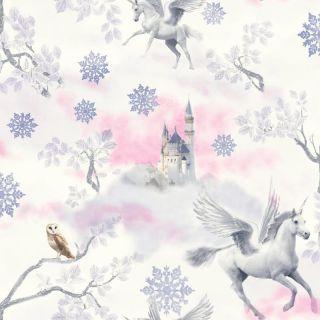 Fairy tale Lilac 667801 Unicorn Wallpaper