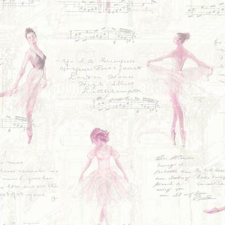 Pirouette Pink 668200 Ballerina Wallpaper