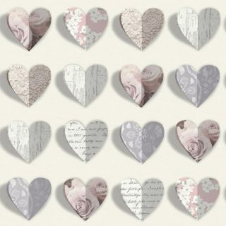 Olivia Blush 669701 3D Love heart Wallpaper