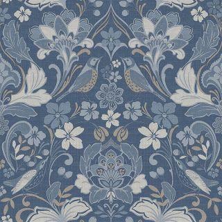Folk Floral Denim Blue 676002