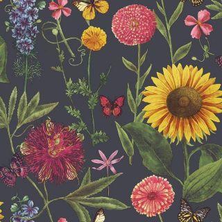 Summer Garden Charcoal Multi 676203